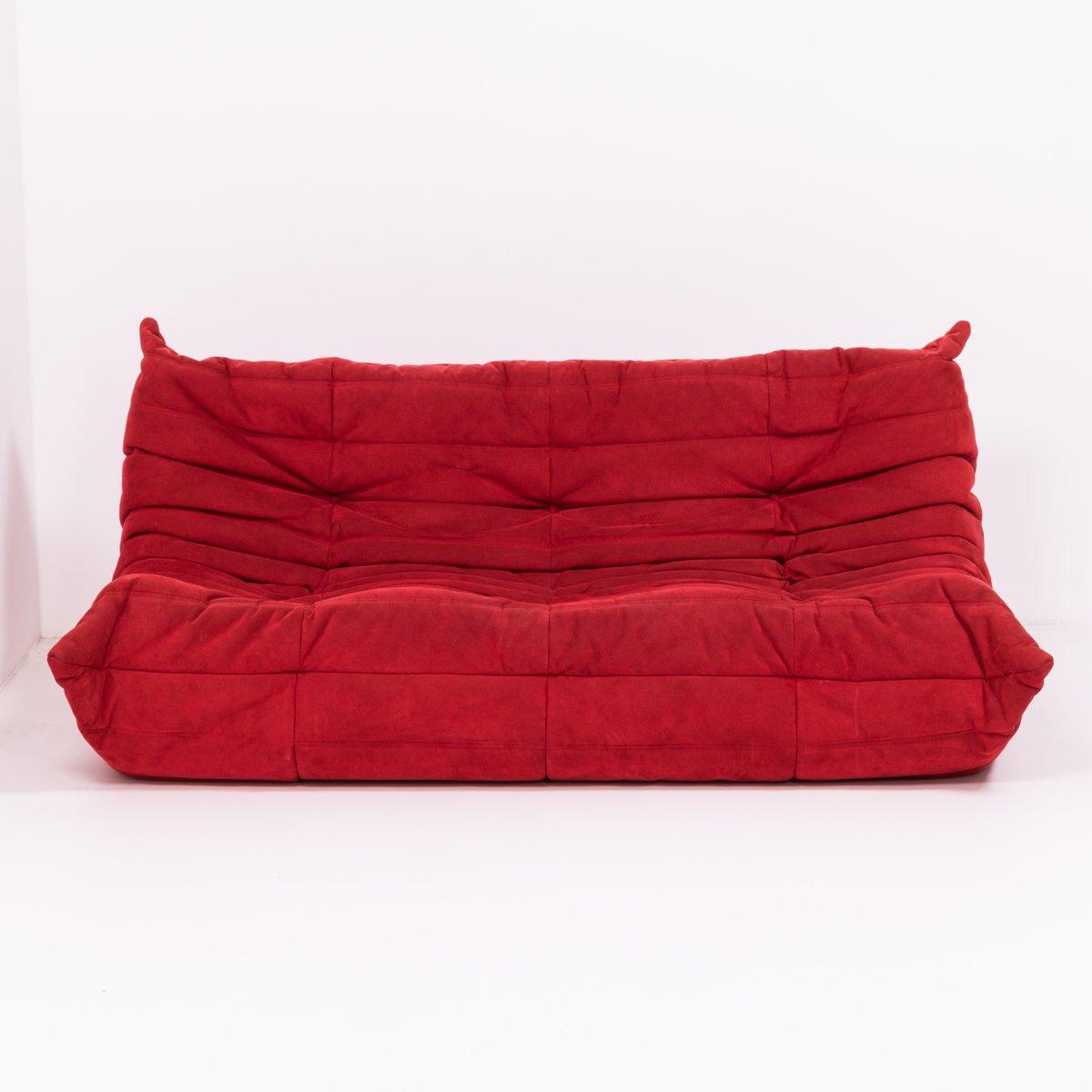grand canap togo rouge par michel ducaroy pour ligne roset 1970s en vente sur pamono. Black Bedroom Furniture Sets. Home Design Ideas