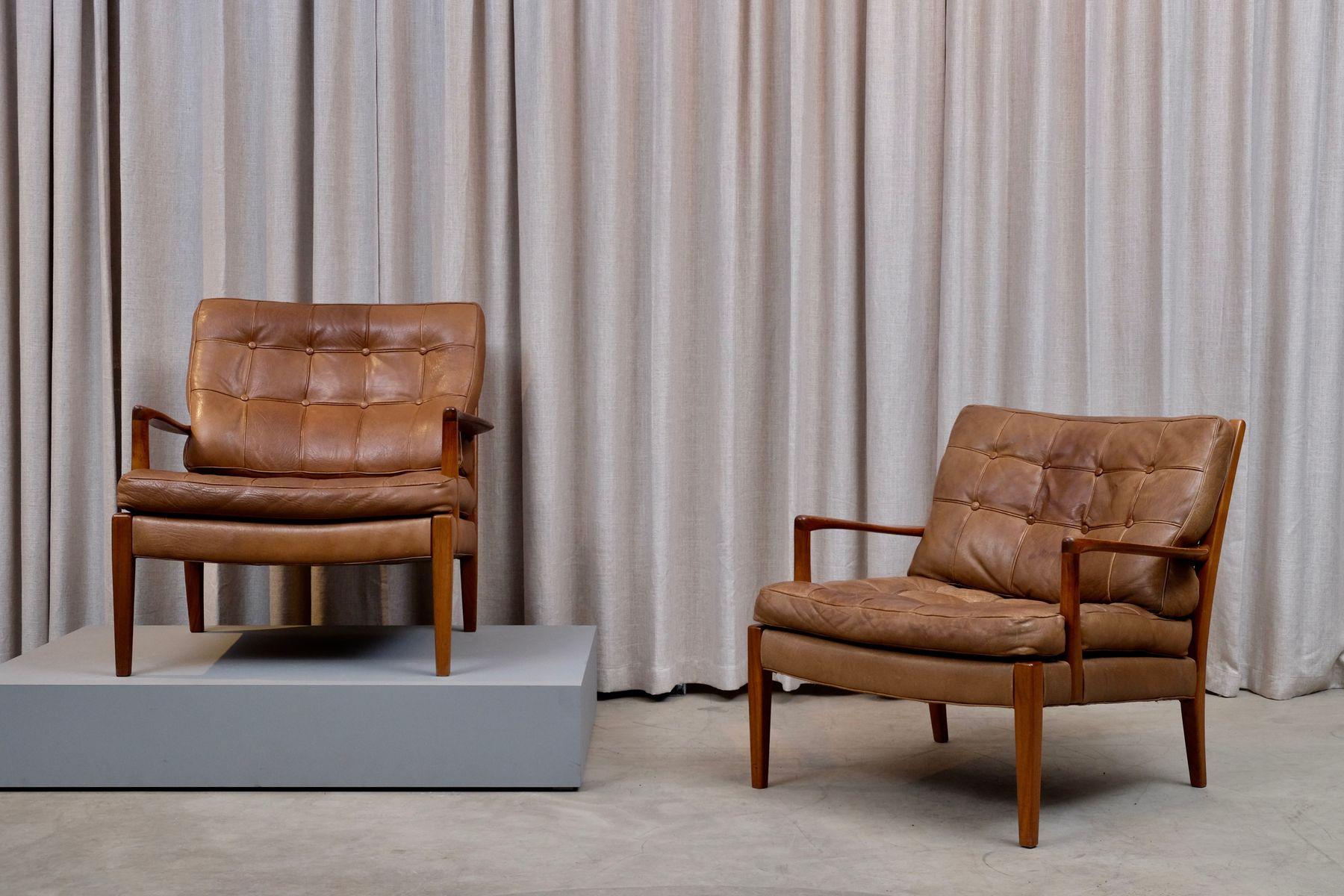 Löven Sessel von Arne Norell für Arne Norell AB, 1960er, 2er Set