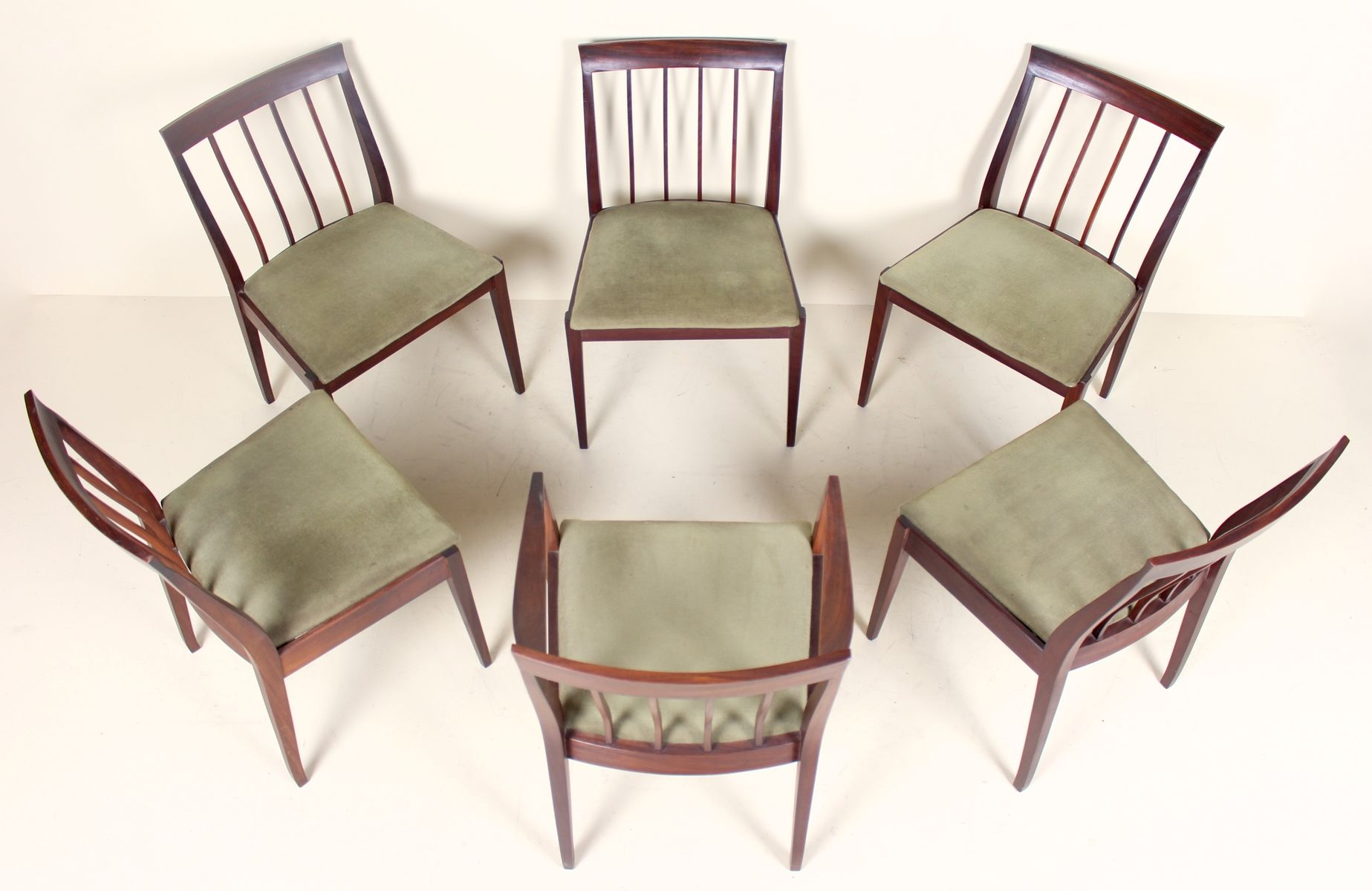 vintage esstisch 6 st hle 1970er bei pamono kaufen. Black Bedroom Furniture Sets. Home Design Ideas