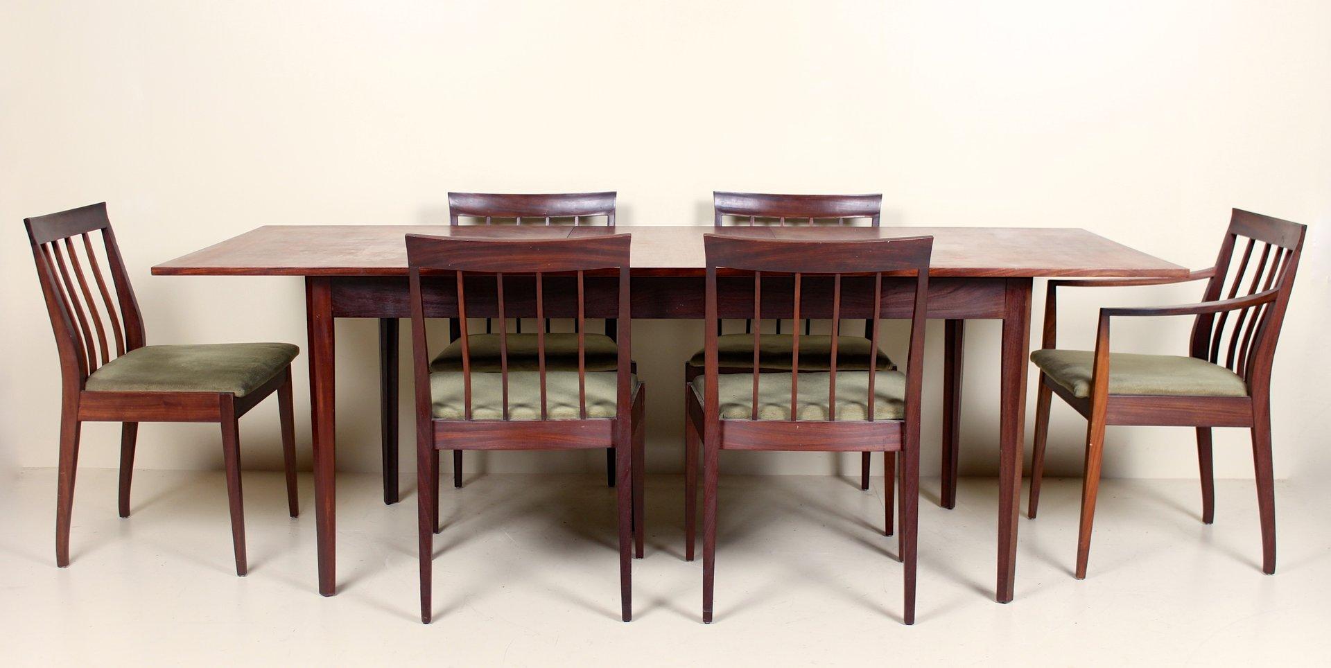 vintage esstisch 6 st hle 1970er haustechnik thiel. Black Bedroom Furniture Sets. Home Design Ideas