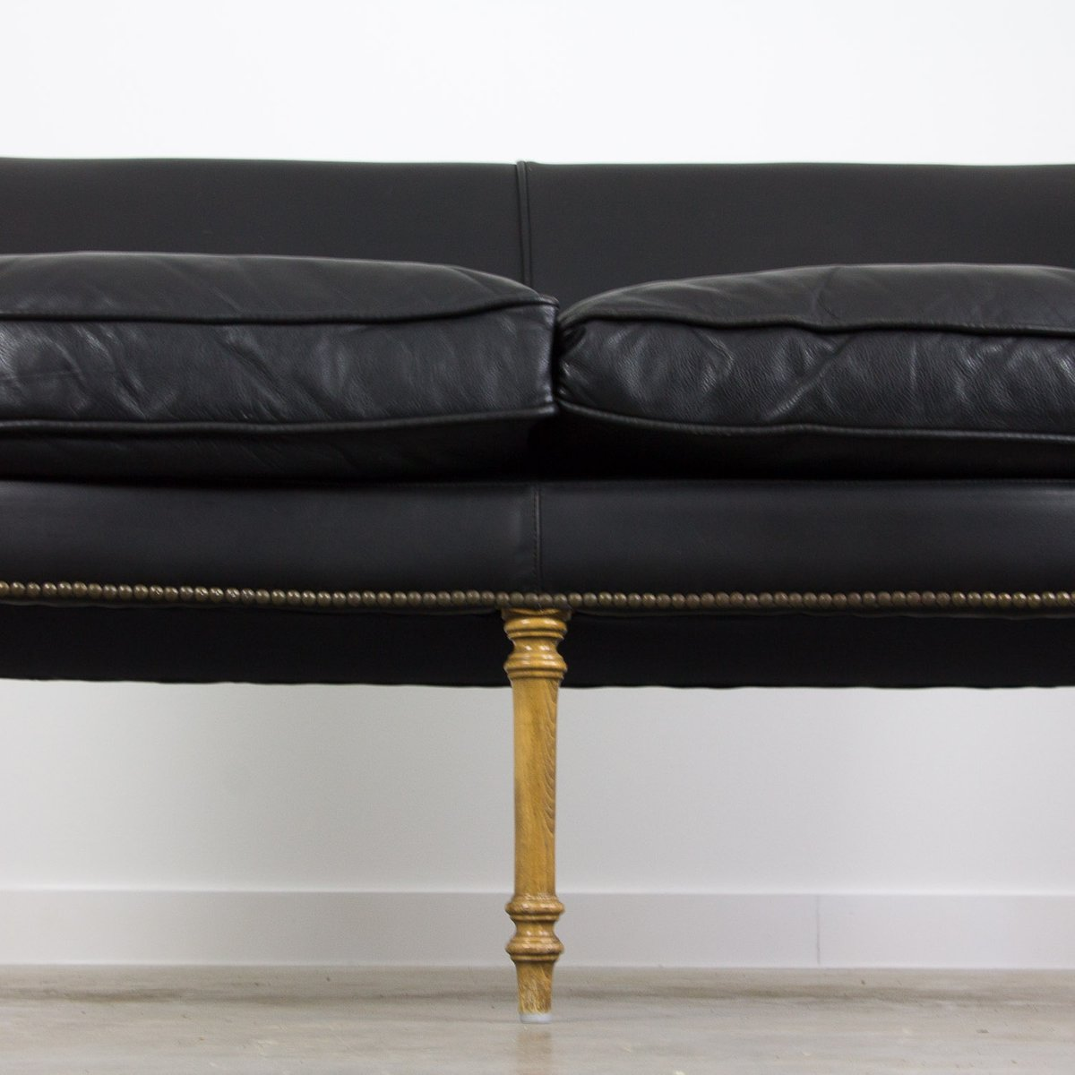 Black Leather Sofa, 1950s 11. $928.00. Price per piece