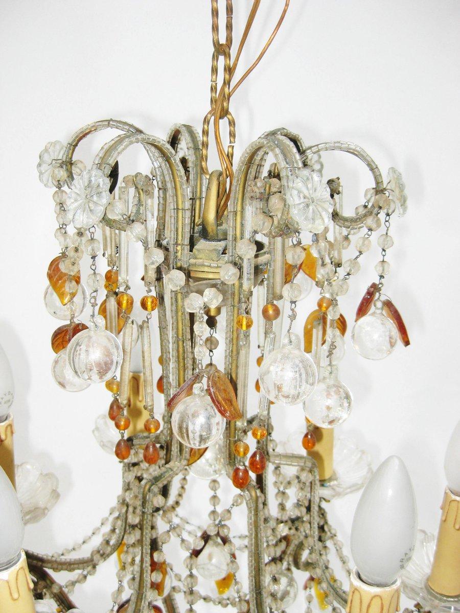 lustre en verre cristal tch 233 quie 1920s en vente sur pamono