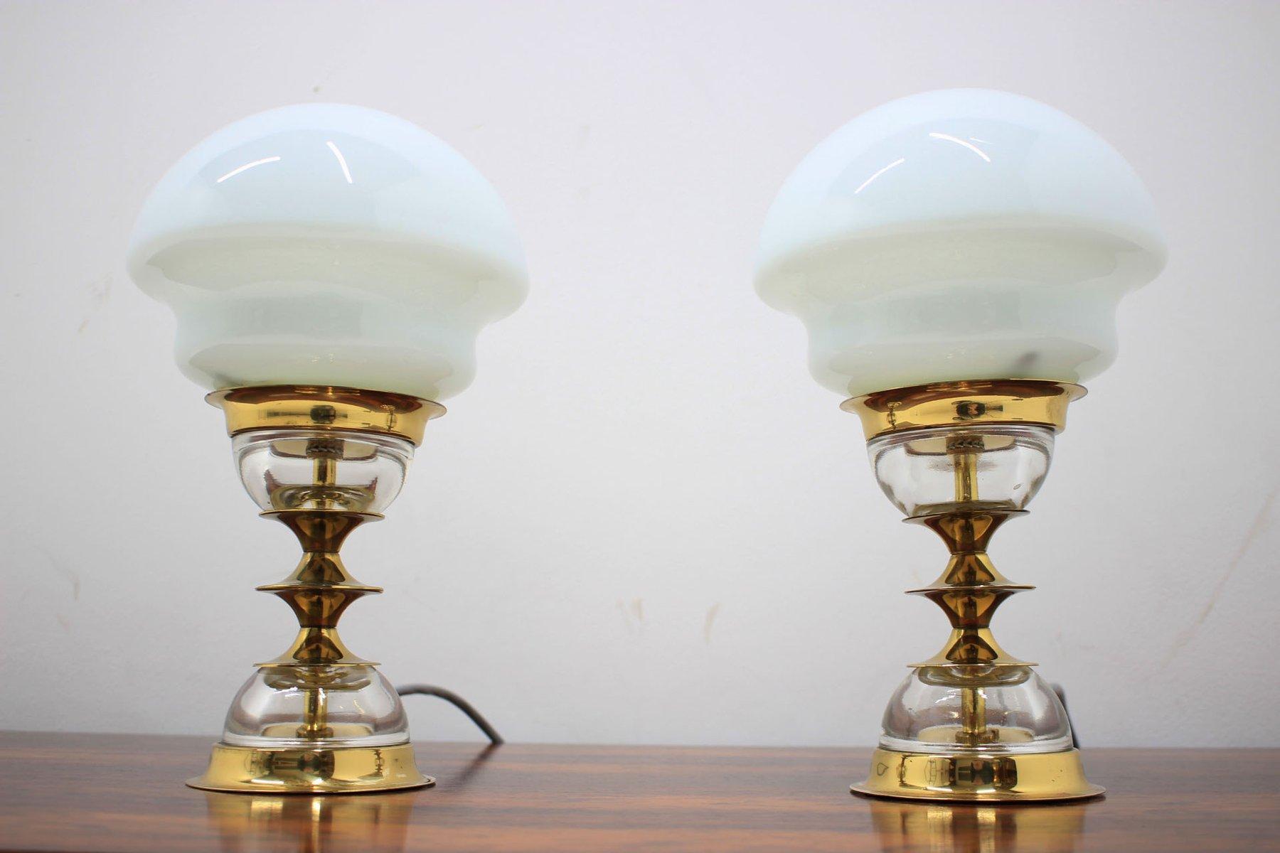 Vintage tischlampen von jabloneck skl rny 1970er 2er for Tischlampen vintage