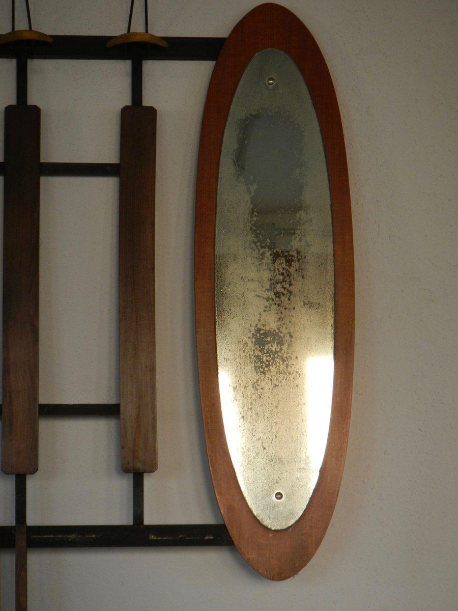 Appendiabiti da ingresso con specchio, anni \'50 in vendita su Pamono
