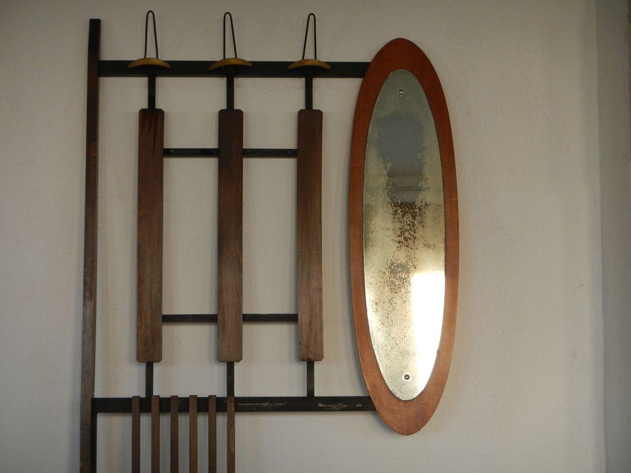 porte manteau d 39 entr e avec miroir 1950s en vente sur pamono. Black Bedroom Furniture Sets. Home Design Ideas