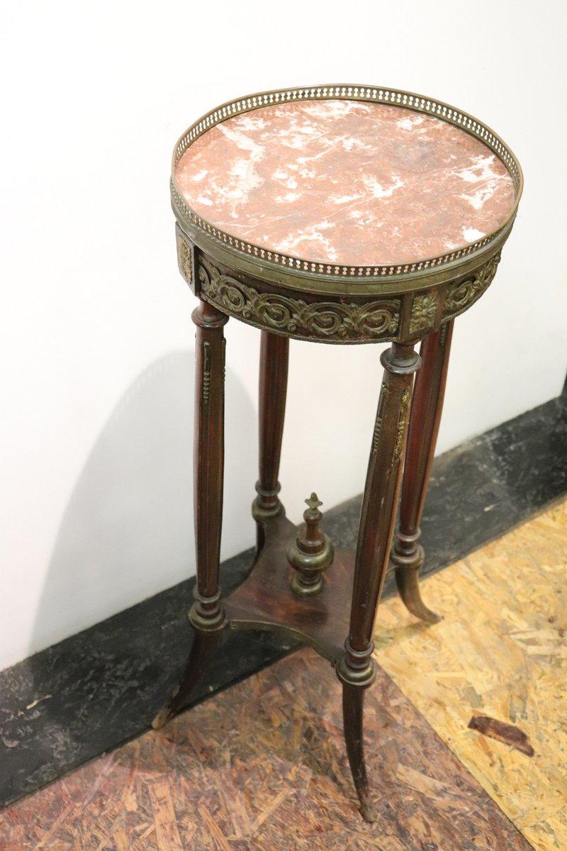 table haute d 39 appoint antique en acajou avec plateau en. Black Bedroom Furniture Sets. Home Design Ideas