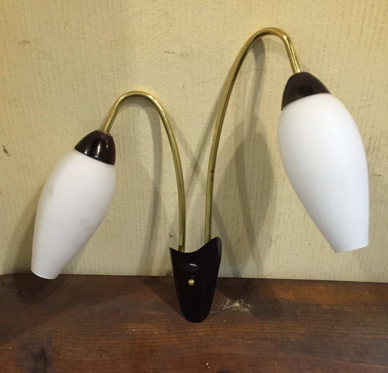 Französische Wandlampe, 1960er