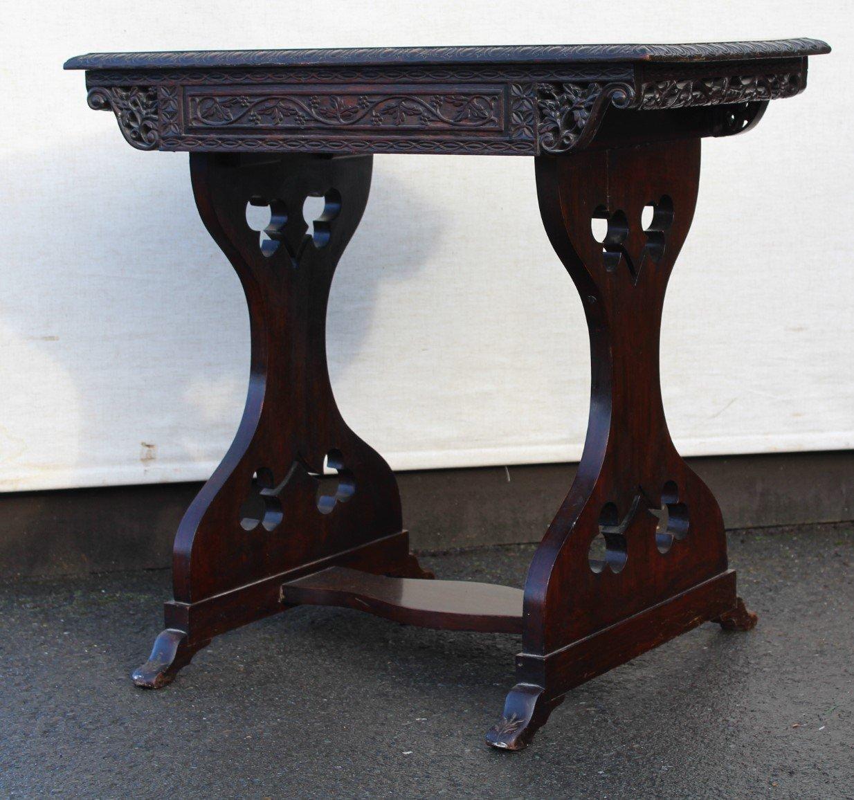 Tisch mit schublade aus padouk holz 1905 bei pamono kaufen for Tisch mit schublade