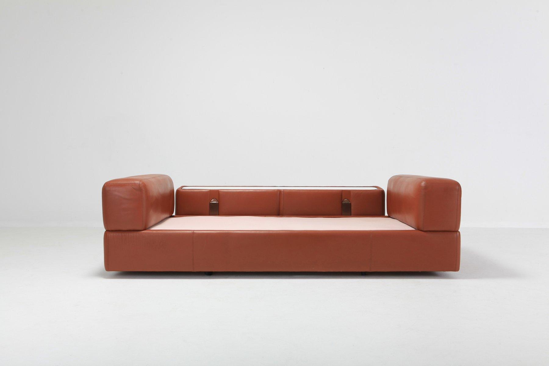 Minimalistisches Vintage Modell 711 Ledersofa Oder Tagesbett In