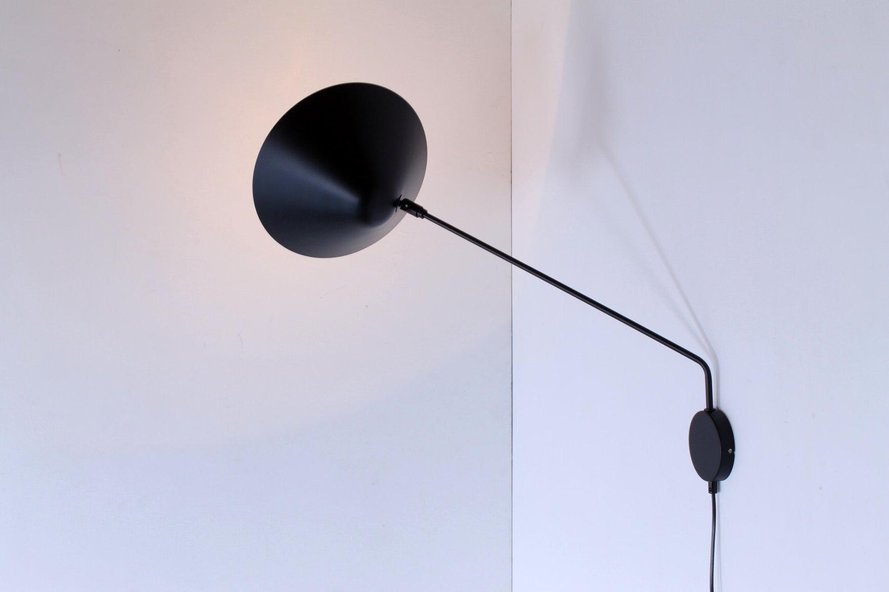 Schwarze Vintage Wandlampen mit Schwenkarmen von H. Th. J. A. Busquet ...
