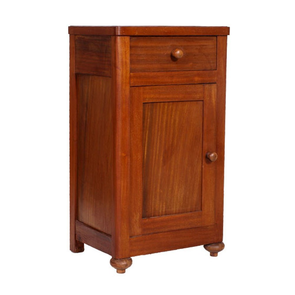 table de chevet antique en noyer et en acajou 1900s en. Black Bedroom Furniture Sets. Home Design Ideas