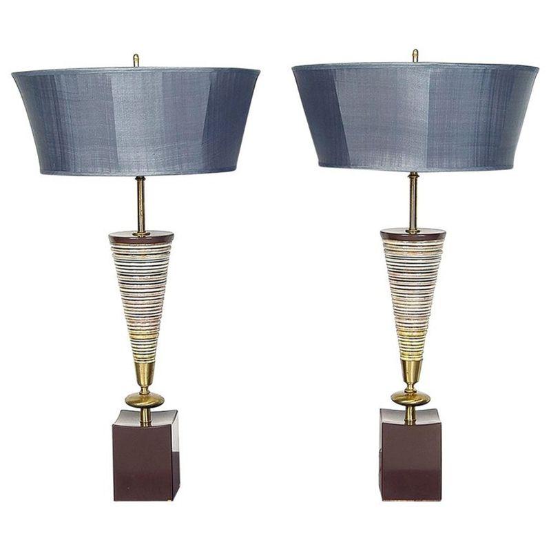 Moderne vintage tischlampen aus keramik von the rembrandt for Tischlampen vintage