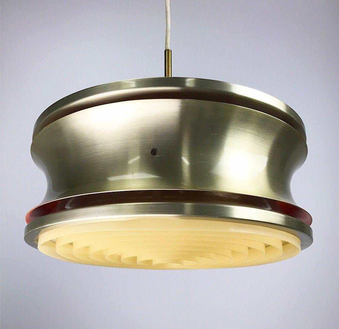 Dänische Vintage Deckenlampe aus Messing