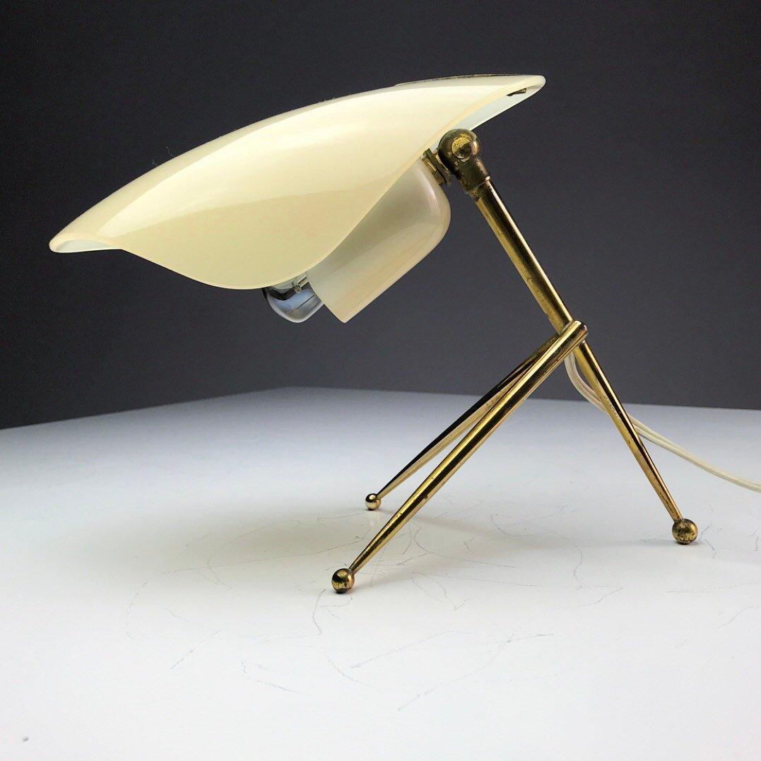Deutsche Tischlampen aus Messing & Plexiglas von WKR Offenbach, 1950er...