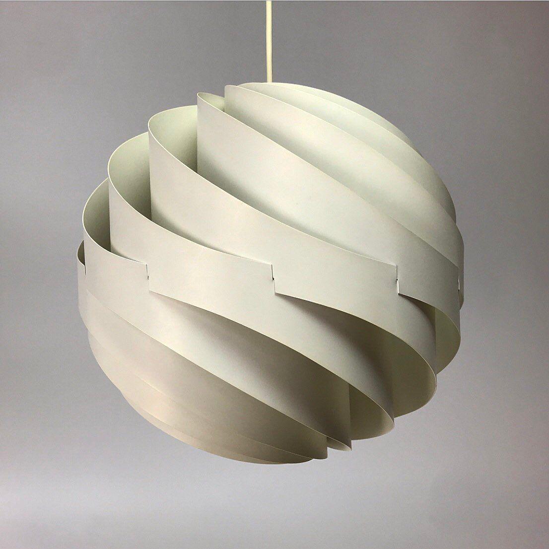 Vintage Turbo Deckenlampe von Louis Weisdorf für Lyfa, 1965