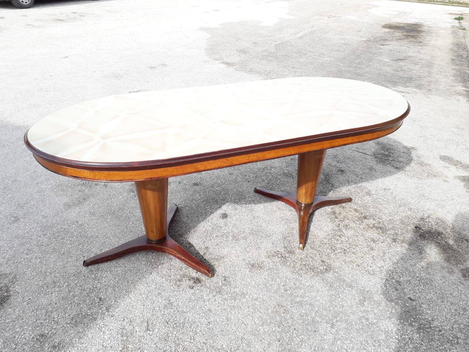 vintage esstisch mit 6 st hlen 1950er bei pamono kaufen. Black Bedroom Furniture Sets. Home Design Ideas