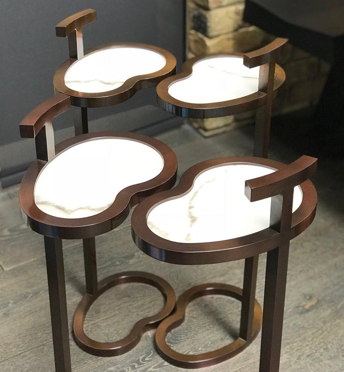 Martini Table: Art Deco Style Vesper Martini Table In Bean Shape By Casa