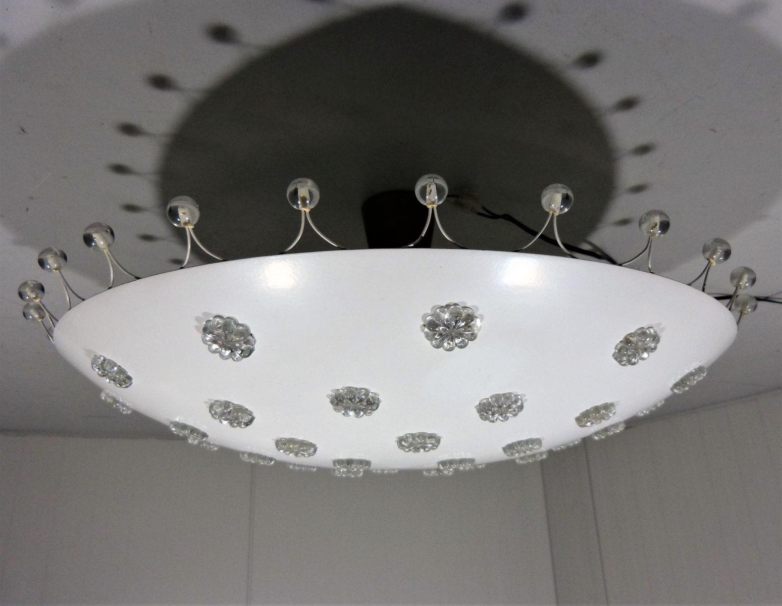 Große Deckenlampe von Emil Stejnar für Rupert Nikoll, 1950er