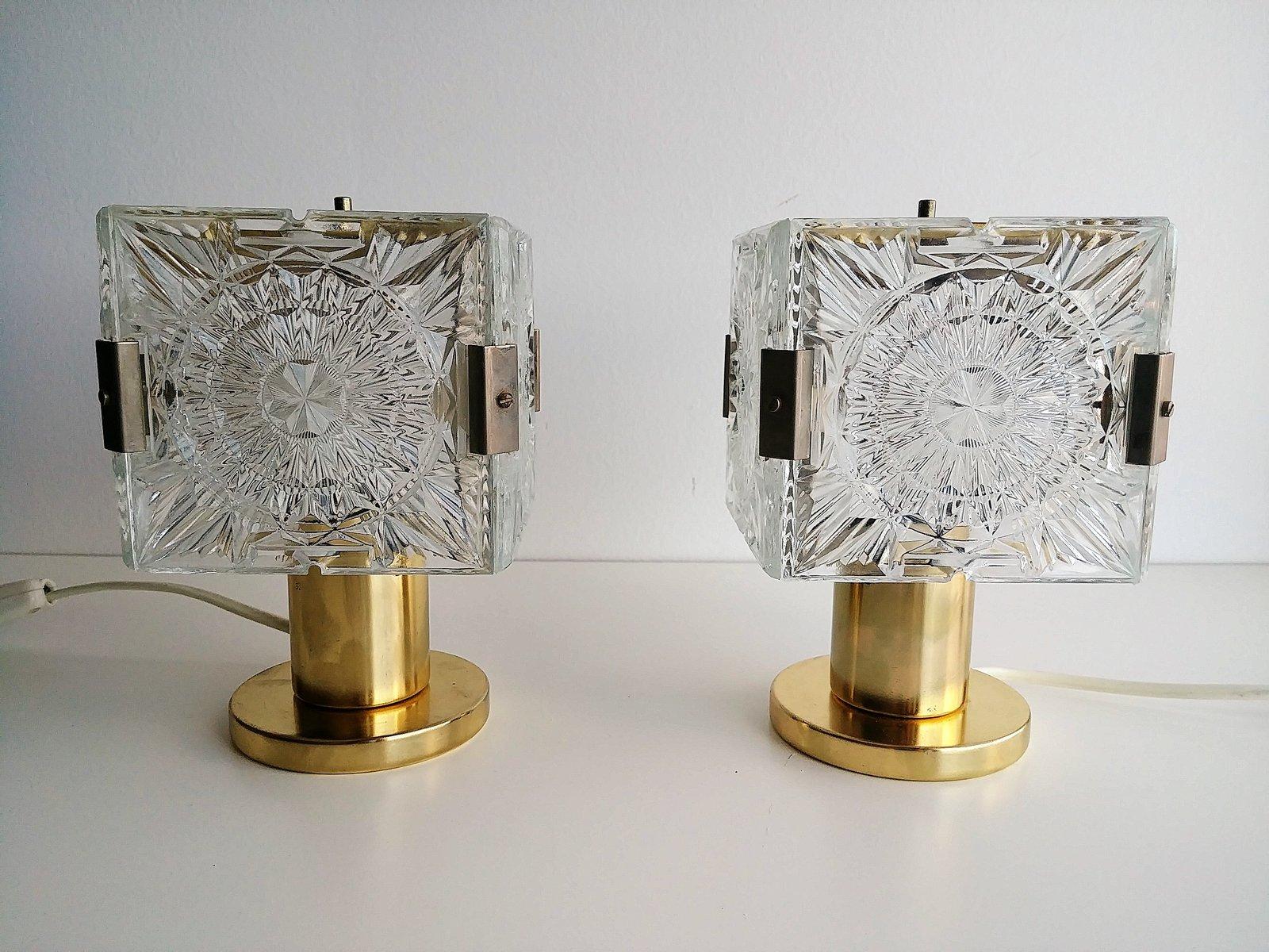 Vintage cube tischlampen von kamenick enov 2er set for Tischlampen vintage