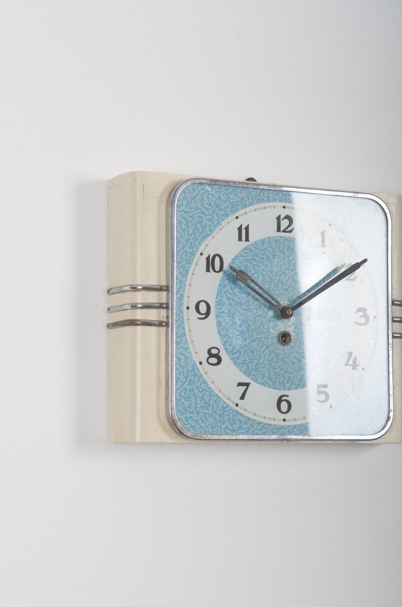 Vintage Art Deco Wall Clock From Kienzle International For
