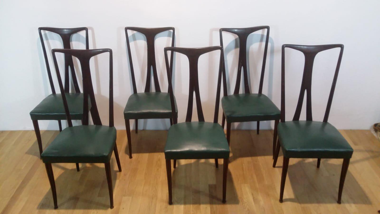 Esstisch und 6 Stühle 1950er bei Pamono kaufen