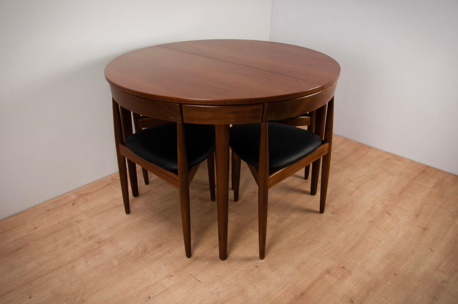 Vintage Esstisch & 4 Stühle aus Teak von Hans Olsen für Frem Røjle, 19...