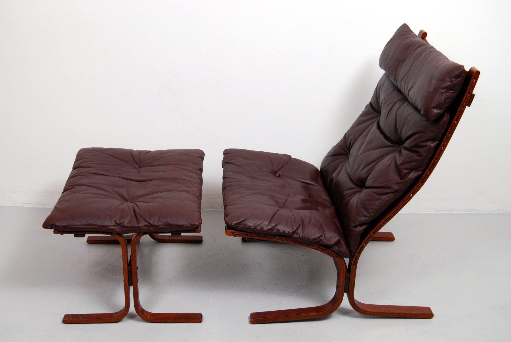Miraculous Vintage Siesta High Back Sling Lounge Chair Ottoman By Ingmar Relling For Westnofa Spiritservingveterans Wood Chair Design Ideas Spiritservingveteransorg