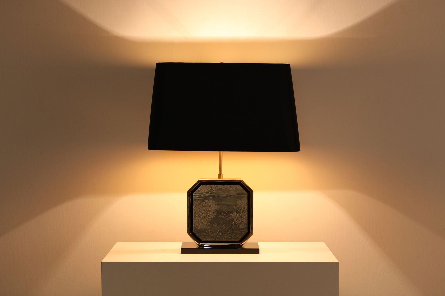Lampe de bureau style hollywood regency en or et laiton de maho 1970s en vente sur pamono - Lampe de bureau style anglais ...