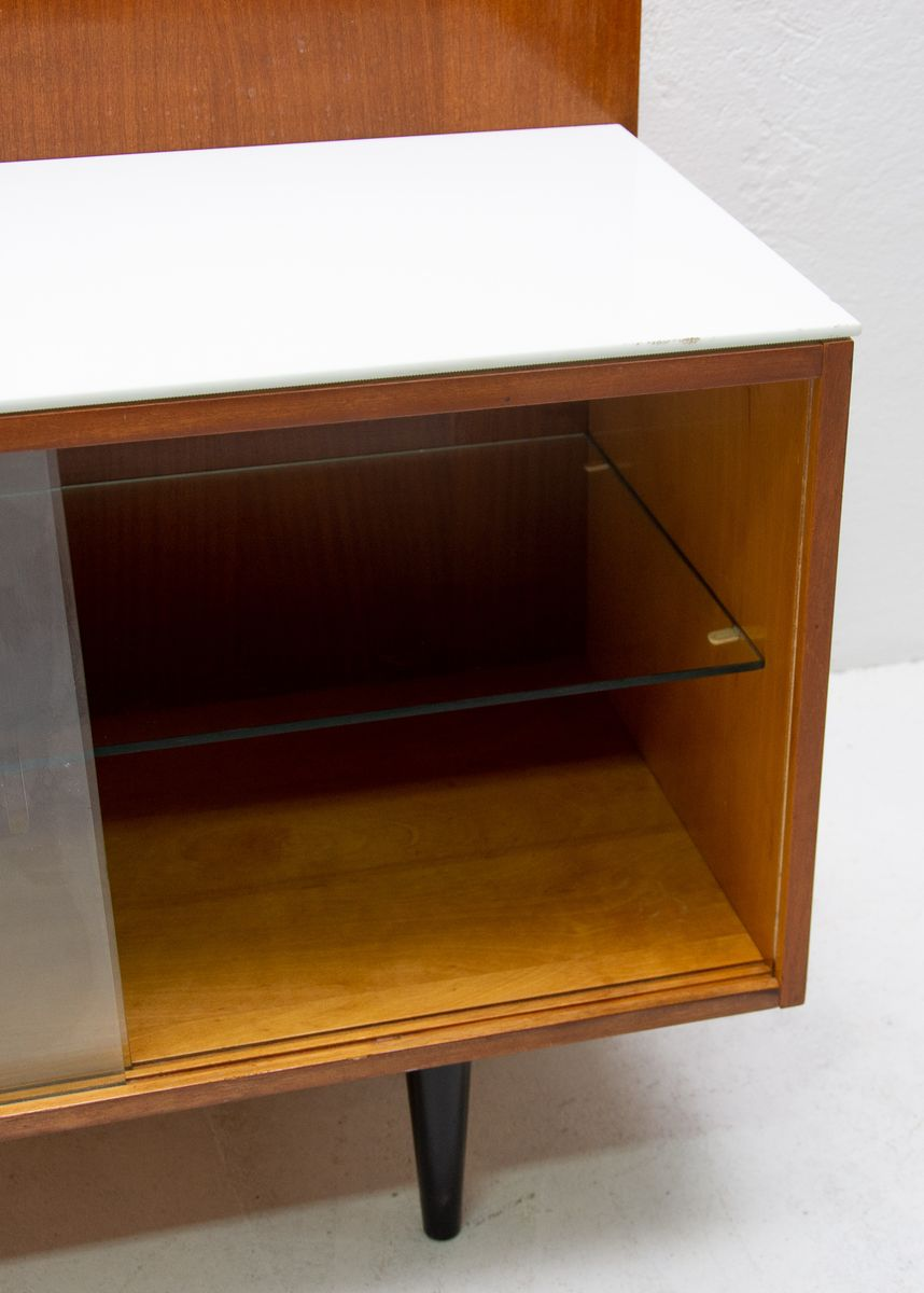Mid Century Corner Writing Desk With Bookcase From Up Zavody 1960s