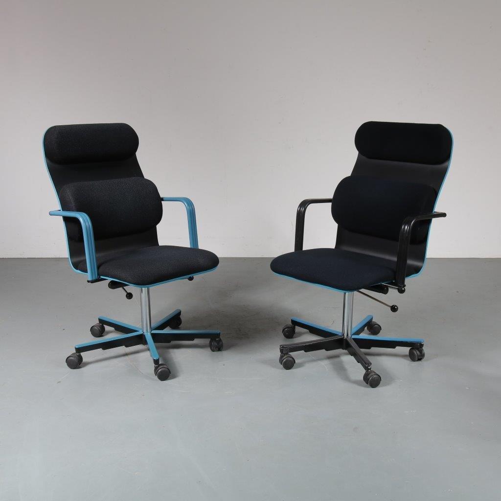 chaise de bureau vintage par yrjo kukkapuro pour avarte 1980s en vente sur pamono. Black Bedroom Furniture Sets. Home Design Ideas