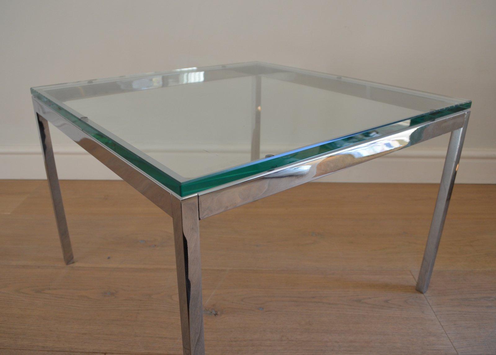 table basse en verre en chrome par florence knoll pour knoll international 1970s en vente sur. Black Bedroom Furniture Sets. Home Design Ideas
