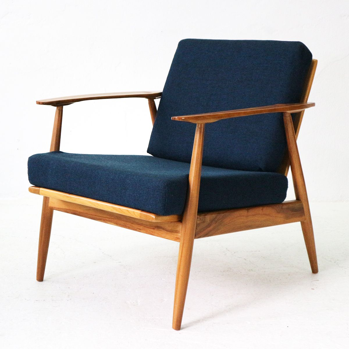 Mid Century Walnut Wood Lounge Chair 1960s Bei Pamono Kaufen
