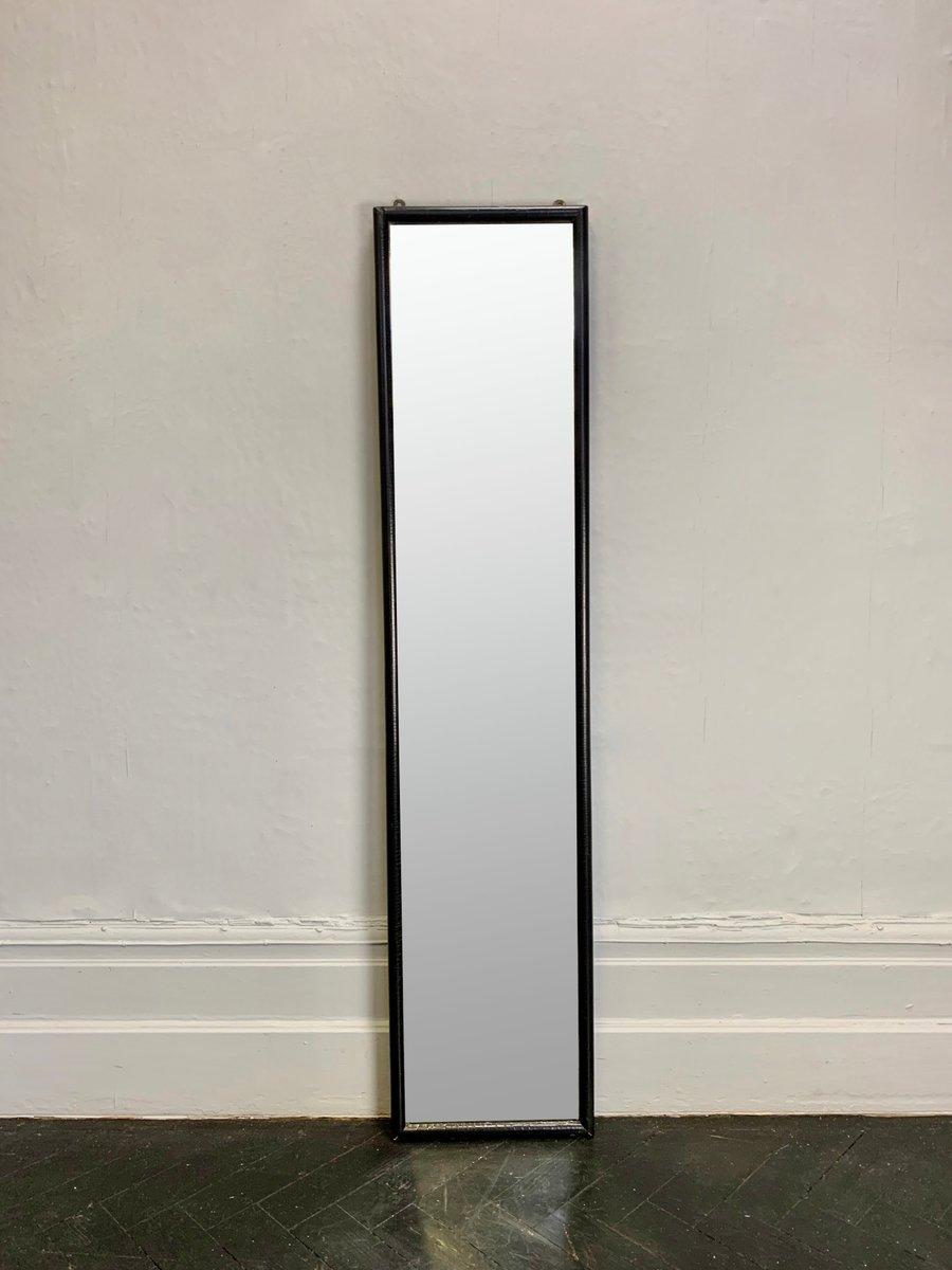 miroir mural vintage rectangulaire avec cadre noir en vente sur pamono. Black Bedroom Furniture Sets. Home Design Ideas