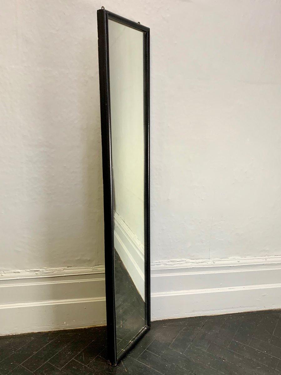 Miroir mural vintage rectangulaire avec cadre noir en vente sur pamono for Miroir rectangulaire noir