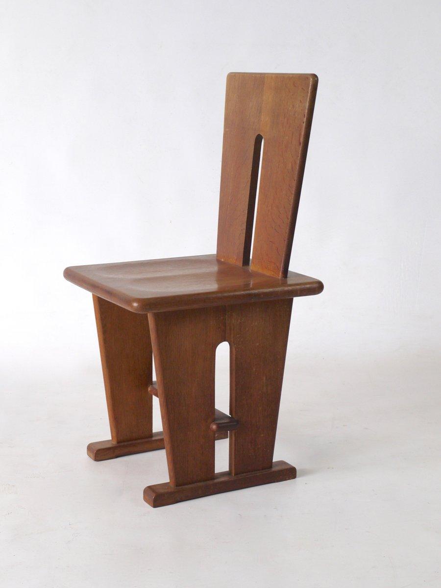 chaise d 39 appoint en ch ne par bas van pelt pour ems overschie 1930s en vente sur pamono. Black Bedroom Furniture Sets. Home Design Ideas