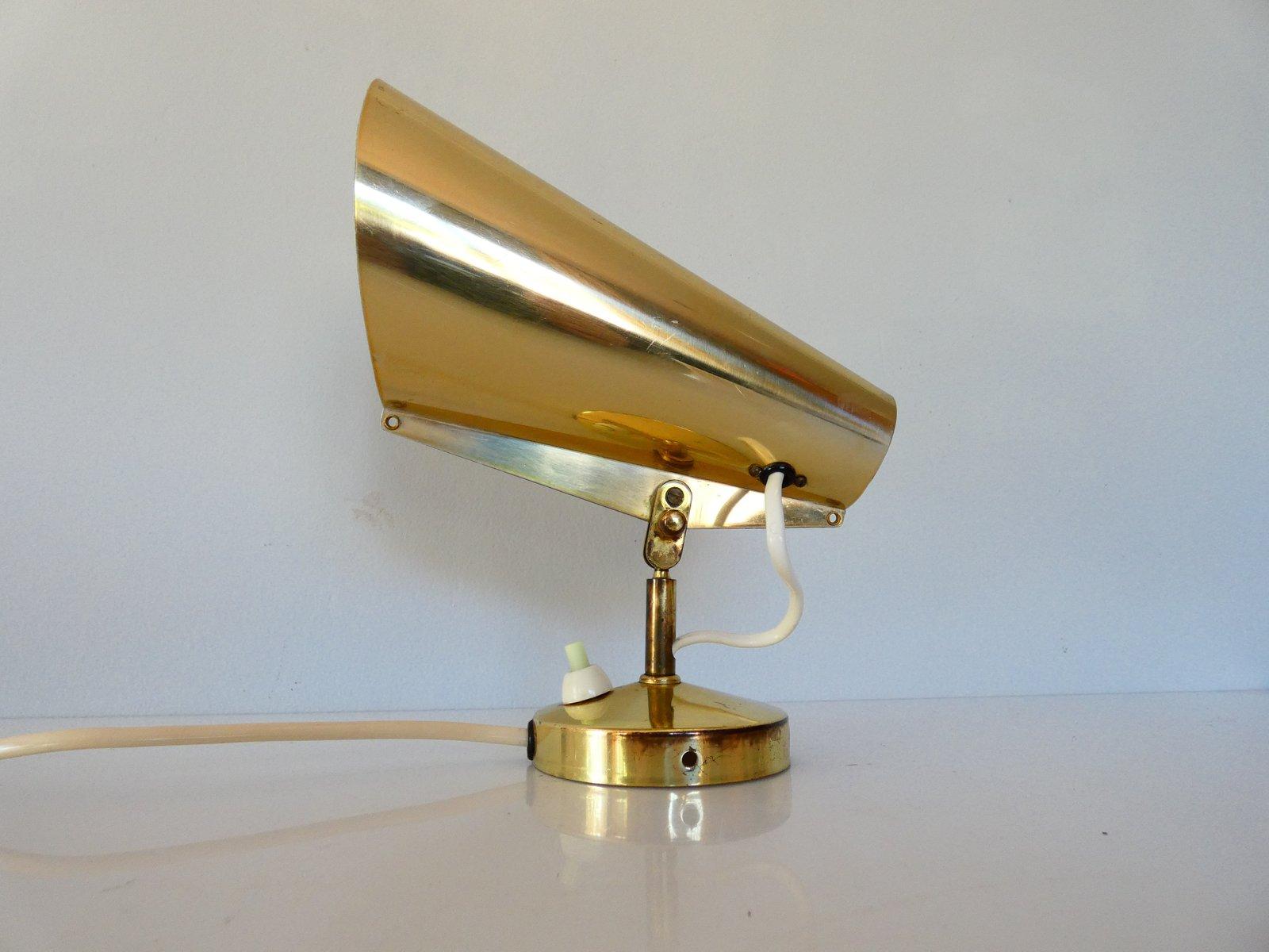 Goldene Wandlampe von Birger Dahl für Sønnico Oslo, 1950er