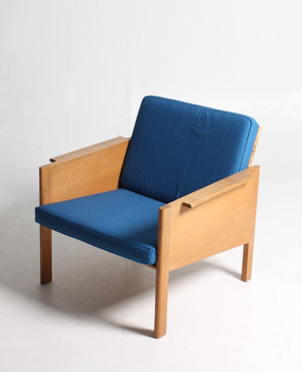 mid century sessel aus eiche und schilfrohr 1960er schreinerei manfred walter. Black Bedroom Furniture Sets. Home Design Ideas