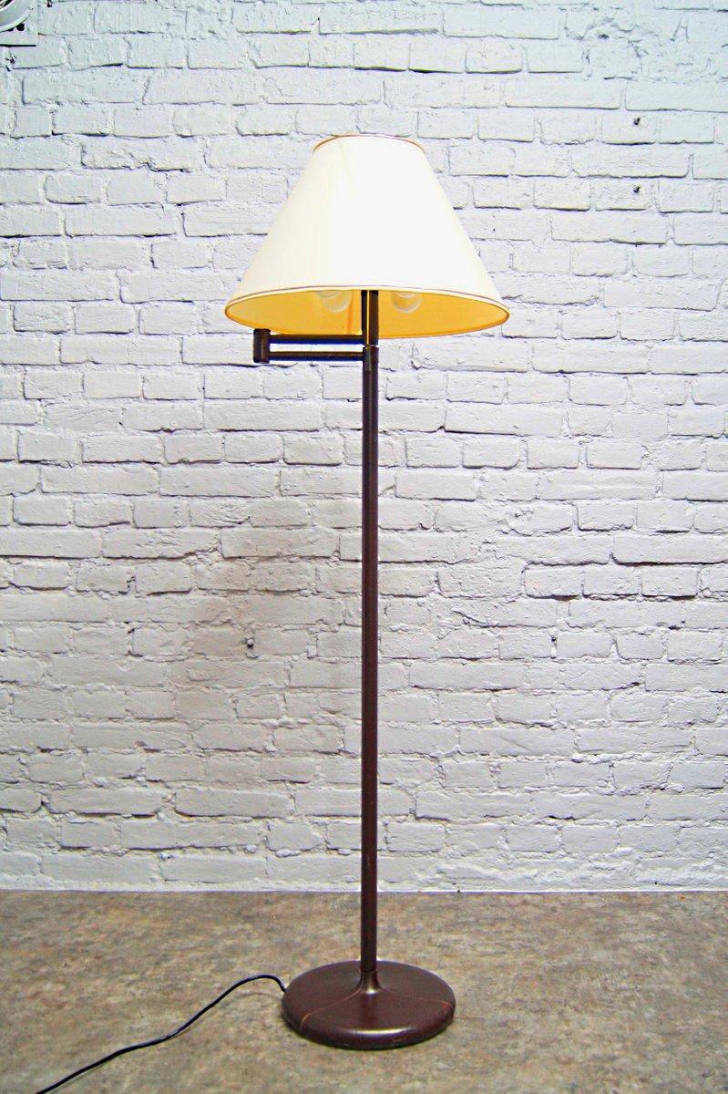 Französische Vintage Stehlampe aus Leder, 1970er