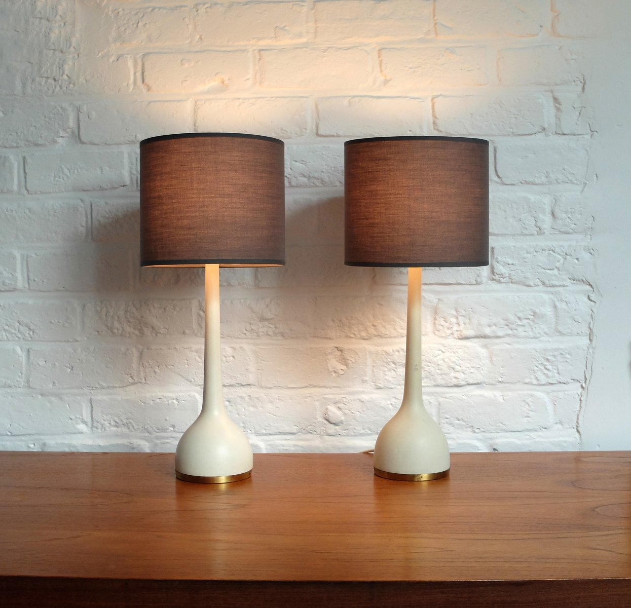 Schwedische Vintage Tischlampen von Hans-Agne Jakobsson, 1960er, 2er S...