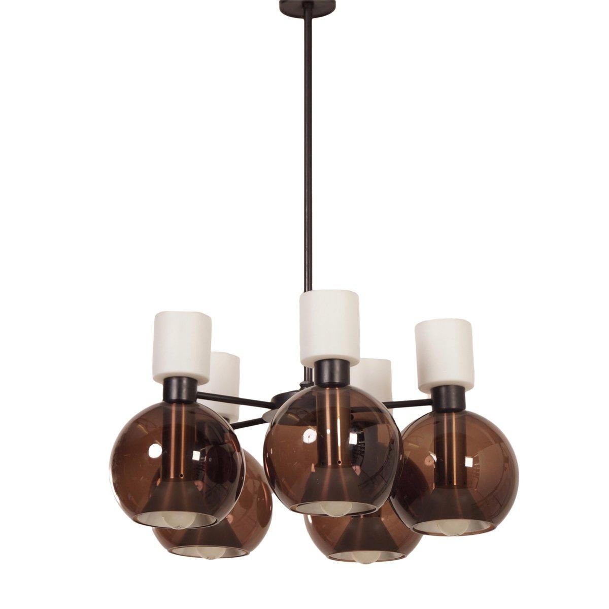 Kronleuchter aus glas mit f nf kugeln von raak 1960er transpan - Glas mit kugeln dekorieren ...
