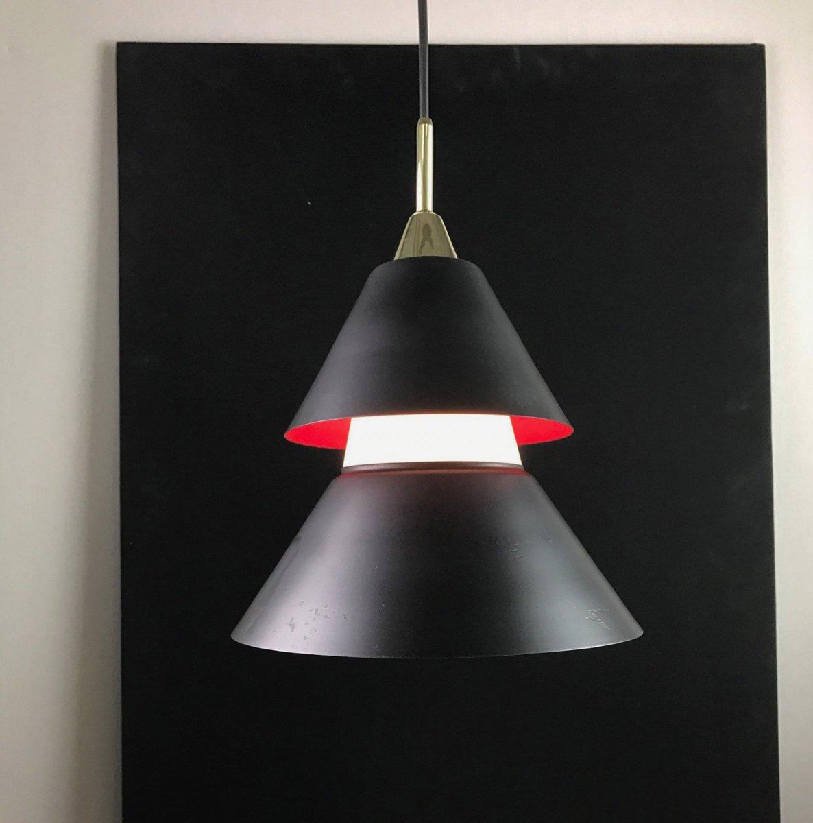 Skandinavische Vintage Deckenlampe mit Diffusoren aus Opalglas