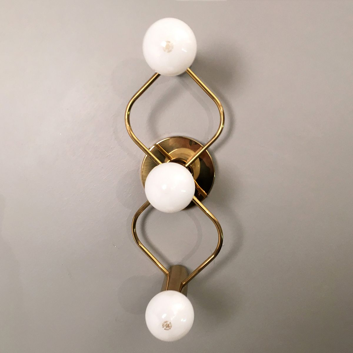 Sculptural Wall Or Ceiling Lamp from Leola, 1970s