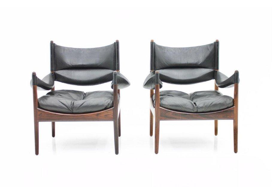 sessel mit hoher r ckenlehne von kristian solmer vedel f r. Black Bedroom Furniture Sets. Home Design Ideas