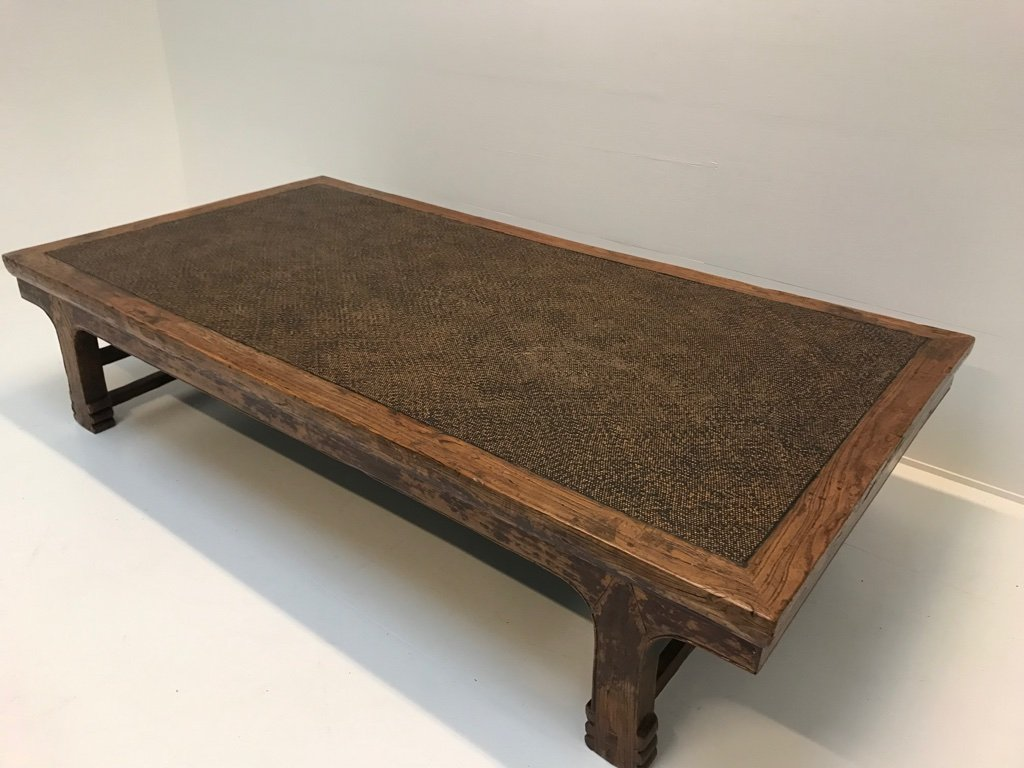 Vintage Indonesian Teak & Rattan Coffee Table for sale at ...