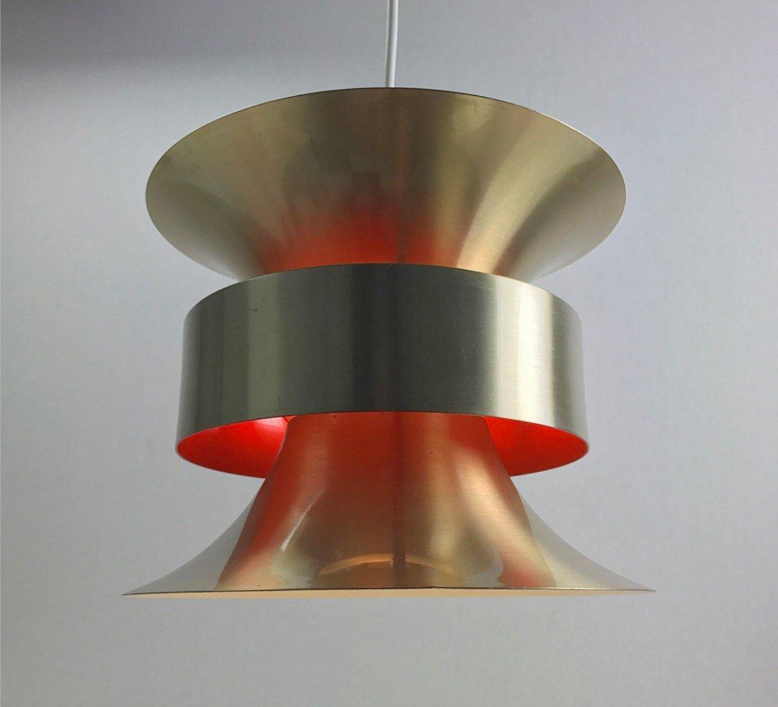 Schwedische Mid-Century Deckenlampe aus Messing von Carl Thore für Gra...
