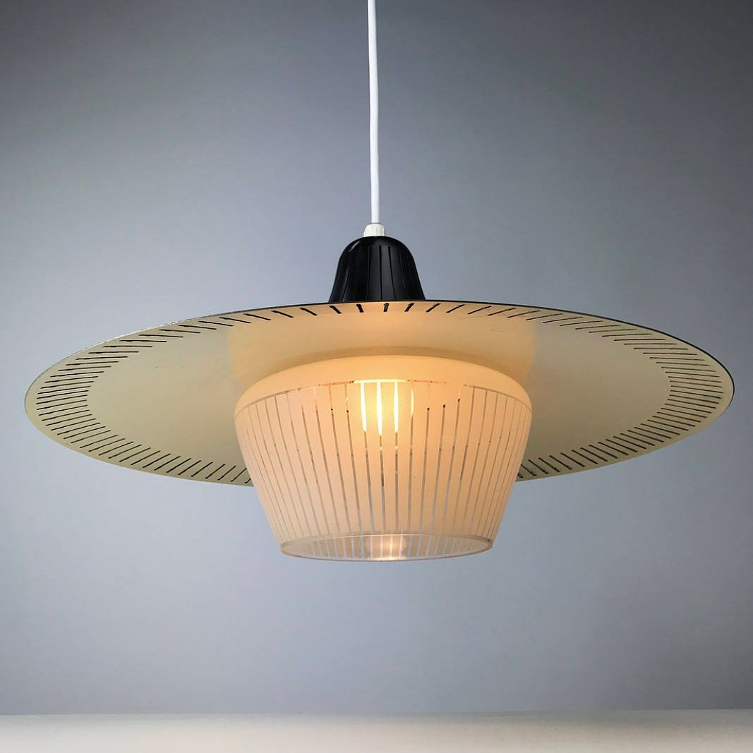 Mid Century Modern Ceiling Light By Bent Karlby For Lyfa For Sale At