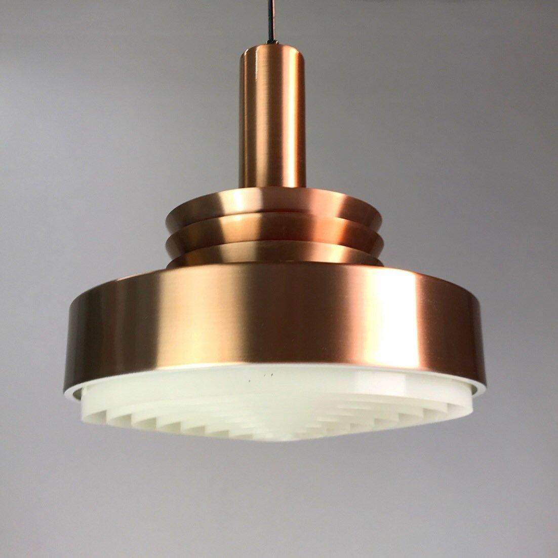 Danish Copper Ceiling Light from Lyskær, 1960s