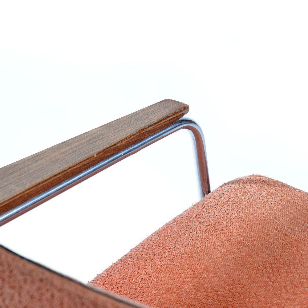 Sessel aus chrom rosa stoff im br sseler stil 1960er for Sessel orientalischer stil
