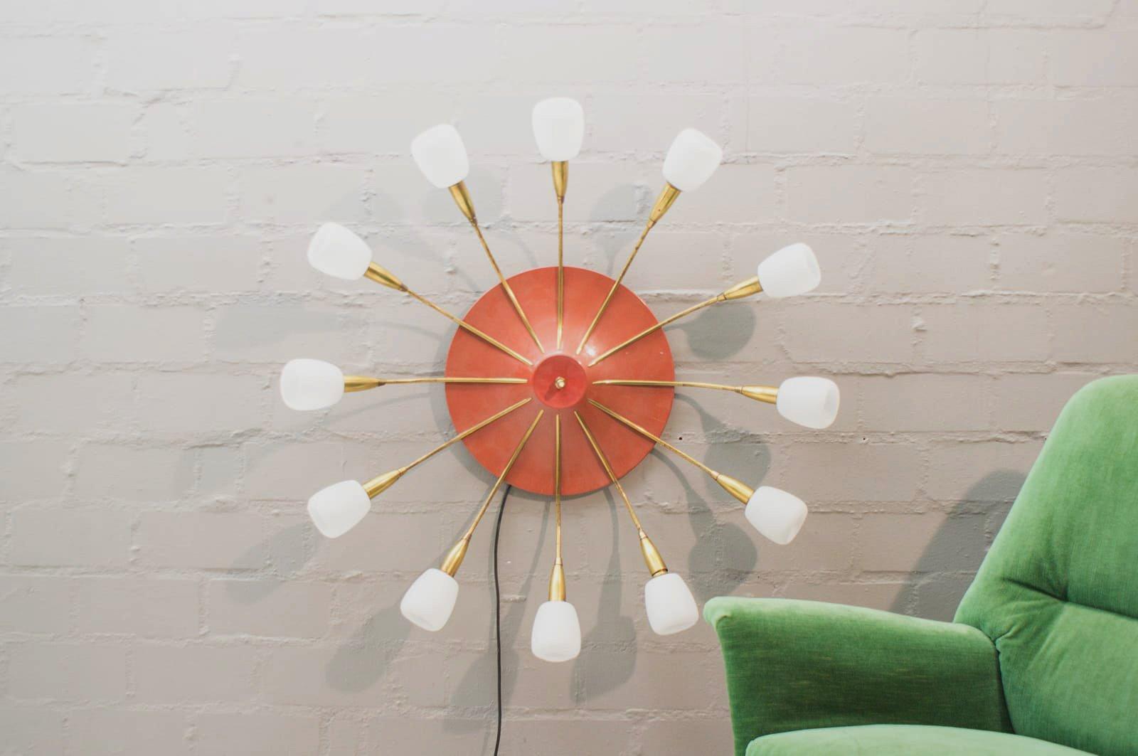 Große Mid-Century Sputnik Lampe