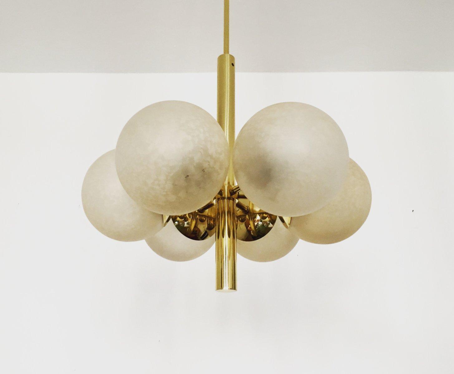 Goldener Sputnik Kronleuchter von Kaiser Leuchten, 1960er